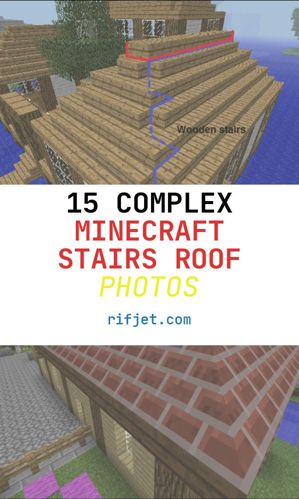 Minecraft Stairs Roof Awesome Waterhouse Minecraft Constuctions Wiki
