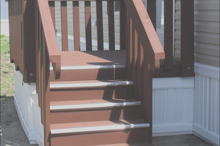 8 Practical Mobile Home Stairs Wooden Stock