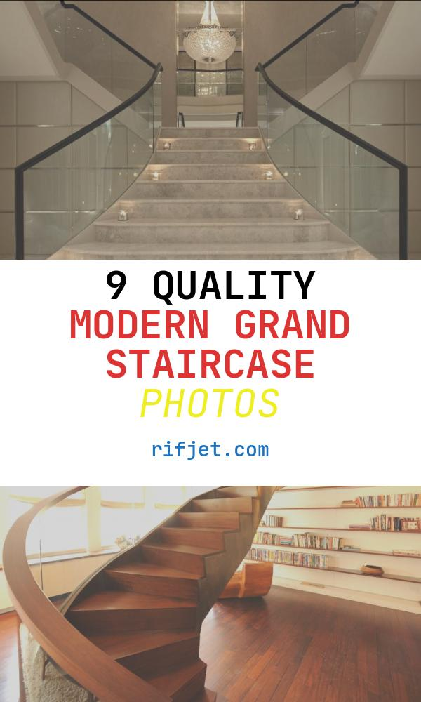 Modern Grand Staircase Beautiful Two Specially Designed Coat Cupboards Beneath the Grand