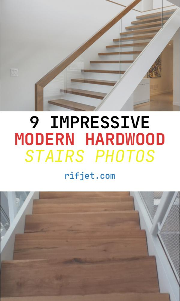 Modern Hardwood Stairs Lovely L Shape Modern Design America Style New solid Wood