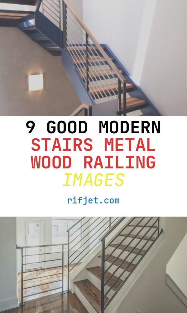 Modern Stairs Metal Wood Railing Beautiful Modern Handrail Designs that Make the Staircase Stand Out