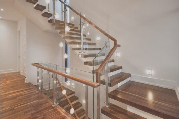 14 Basic Modern Wood Stairs with Glass Photos