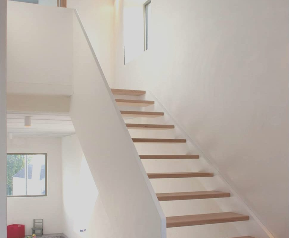 Narrow Stairs Design Fresh Narrow Lot Uses Modern fortress Wall for Privacy From Street
