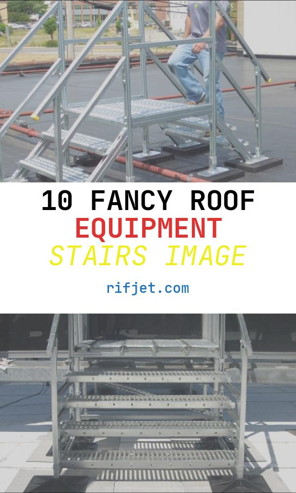 Roof Equipment Stairs Awesome Rooftop Support Systems™ Crossover Bridge Roof Stairs