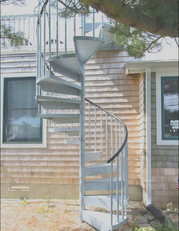 Roof Over Deck Stairs Unique Browse Galvanized Steel Spiral Staircases for Design Ideas