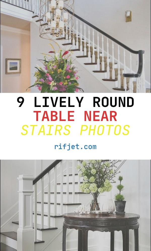 Round Table Near Stairs Best Of Dark Stair Rail with White Spindles Round Table In