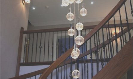 Stairs Chandeliers Modern Beautiful Staggered Chandelier In 2019