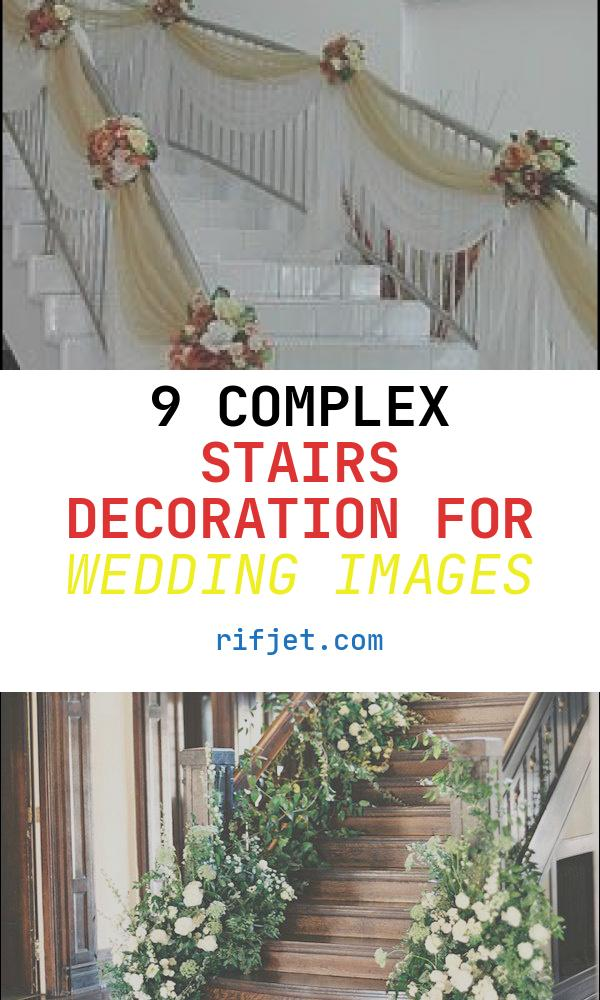 9 Complex Stairs Decoration for Wedding Images