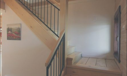 Stairs Interior Basement New Stair Rails Simple Clean Modern