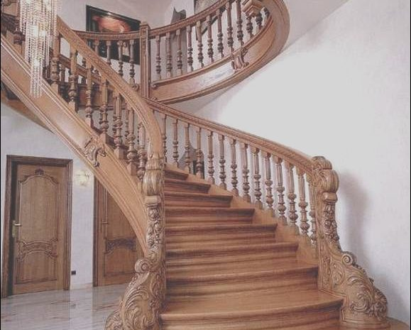 10 Newest Stairs Railing Wooden Design Images