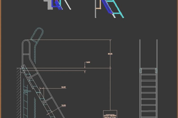 9 Marvelous Stairs Roof Dwg Stock