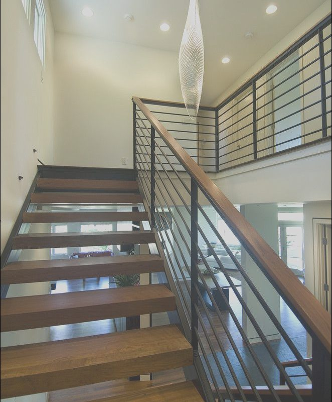 Stairs White and Wood Modern Luxury Open Modern Stair Modern Staircase Minneapolis