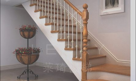 Stairs Wooden Handrail Luxury Custom Wrought Iron Staircase Wood Staircase Handrail