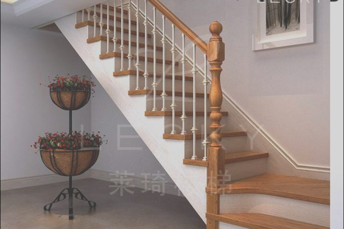 12 Realistic Stairs Wooden Handrail Images