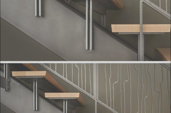 9 Beautiful Steel Stairs Design Example Photos