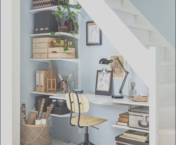12 Practical Study Table Under the Stairs Image