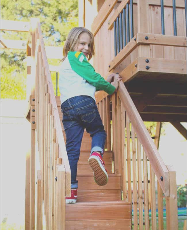Swing Sets with Stairs Elegant Getting Outside with Our Oceanview Wooden Swing Set and