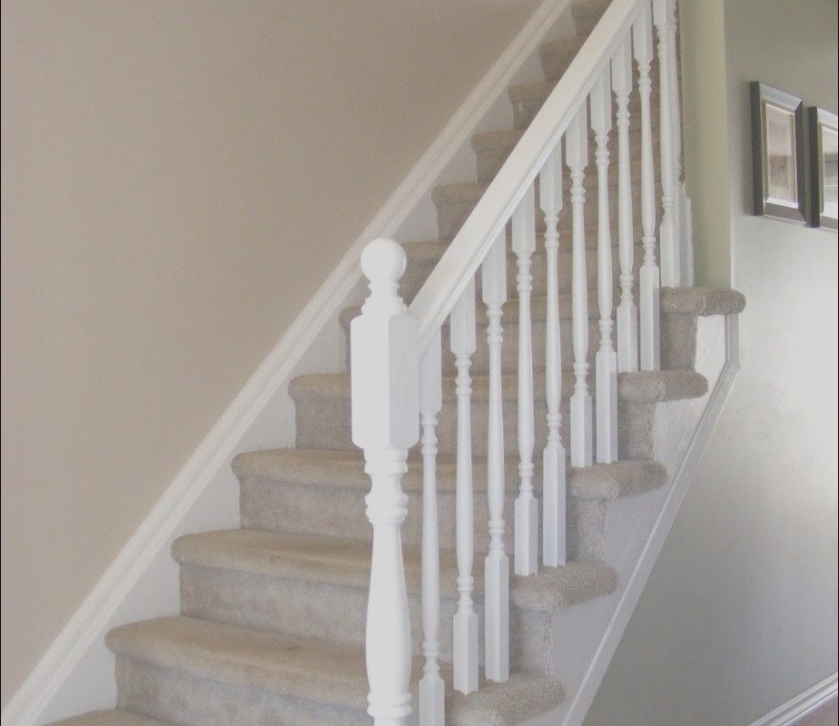 White Handrails for Stairs Interior Best Of Simple White Stair Railing Decorating ☎
