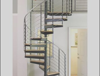 Wooden Stairs Grill Design Fresh Internal Residential Wood Stair Stainless Steel Spiral