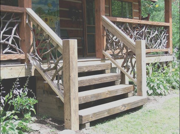 12 Conventional Wooden Stairs Outdoor Image