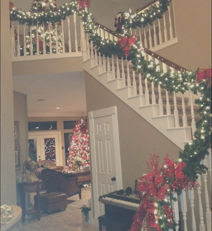 Xmas Decor In Stairs Fresh Wrap It Design Holiday