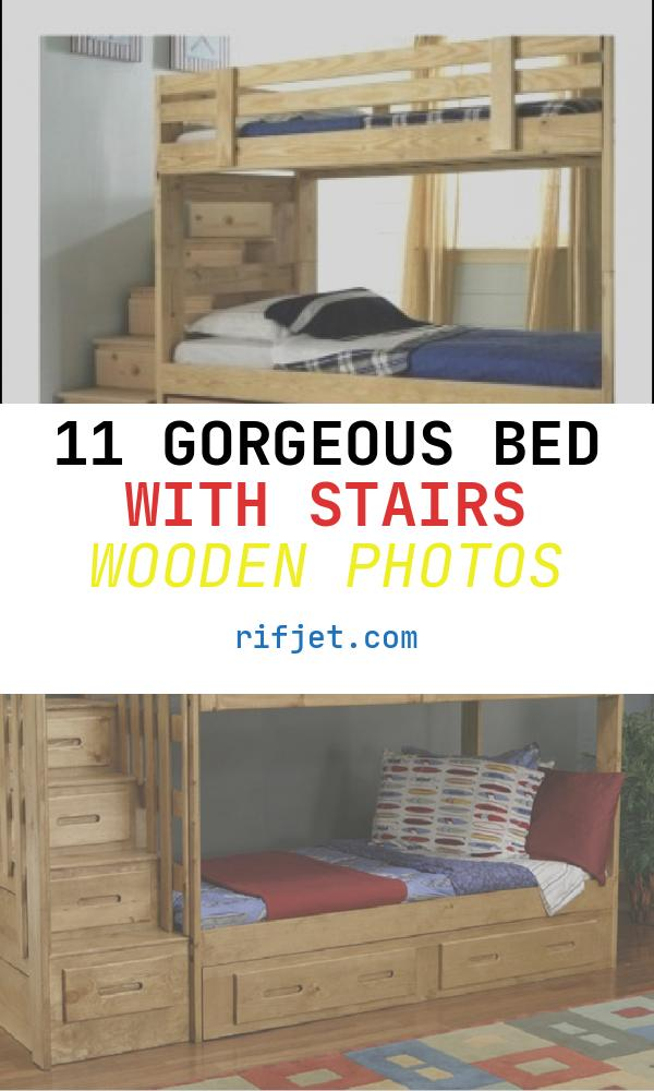 11 Gorgeous Bed with Stairs Wooden Photos