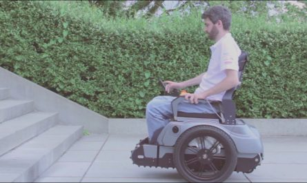 Chairs to Climb Stairs Elegant Swiss Students Invent A Wheelchair Capable Of Climbing Stairs