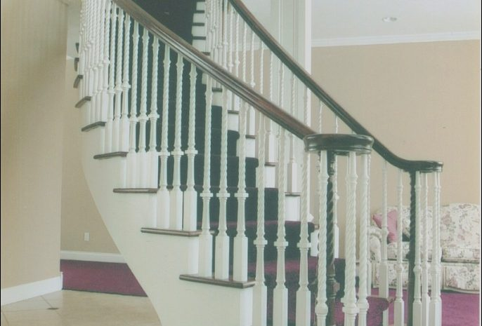 9 Expensive Contemporary Curved Stairs Stock