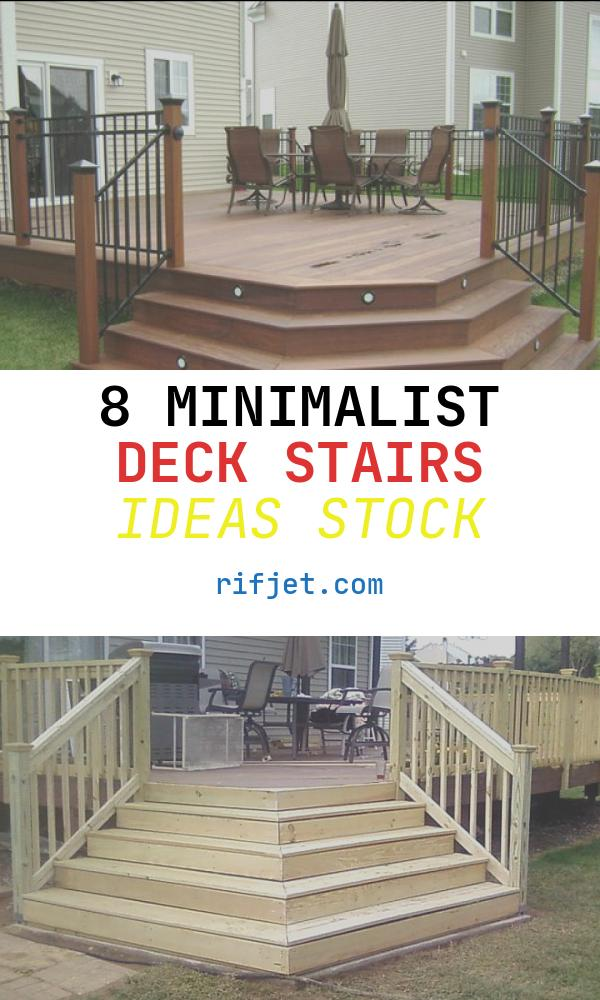8 Minimalist Deck Stairs Ideas Stock