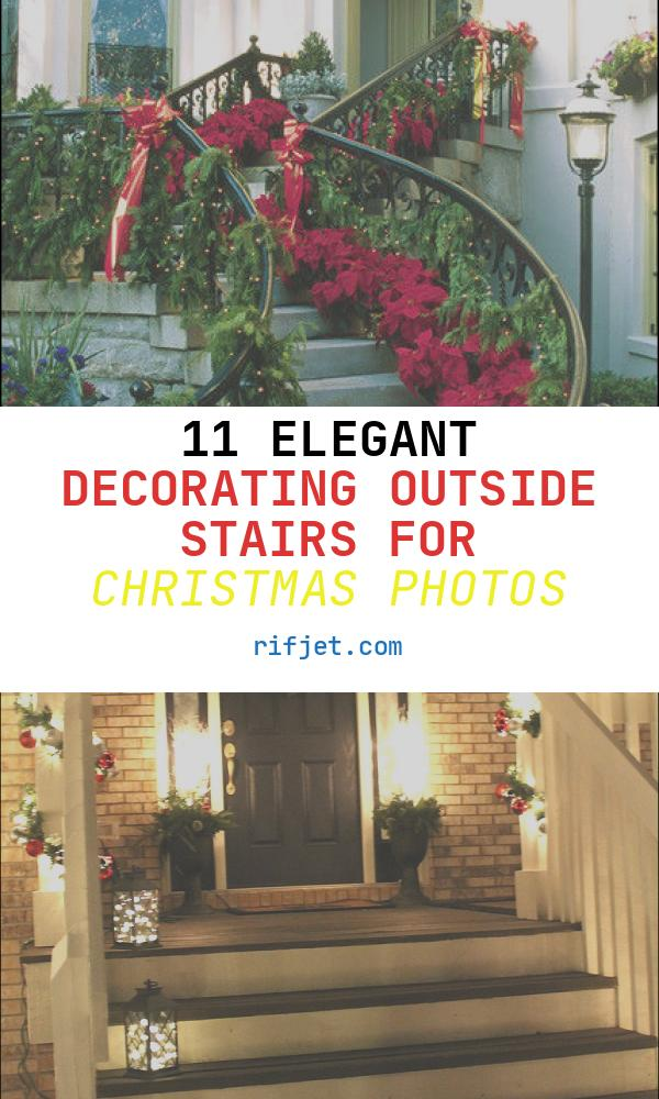 Decorating Outside Stairs for Christmas Elegant Beautiful Christmas Staircase Decorations S