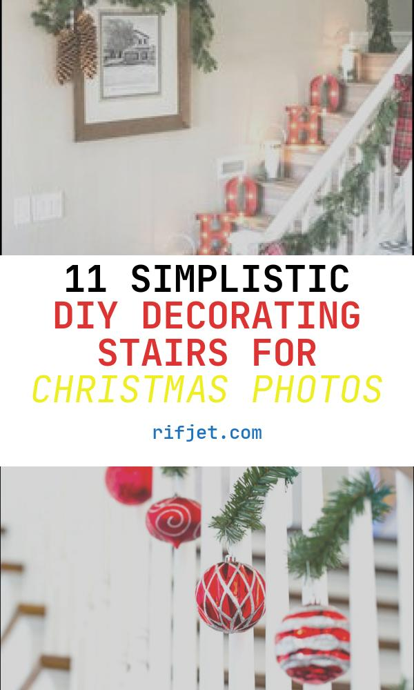 11 Simplistic Diy Decorating Stairs for Christmas Photos