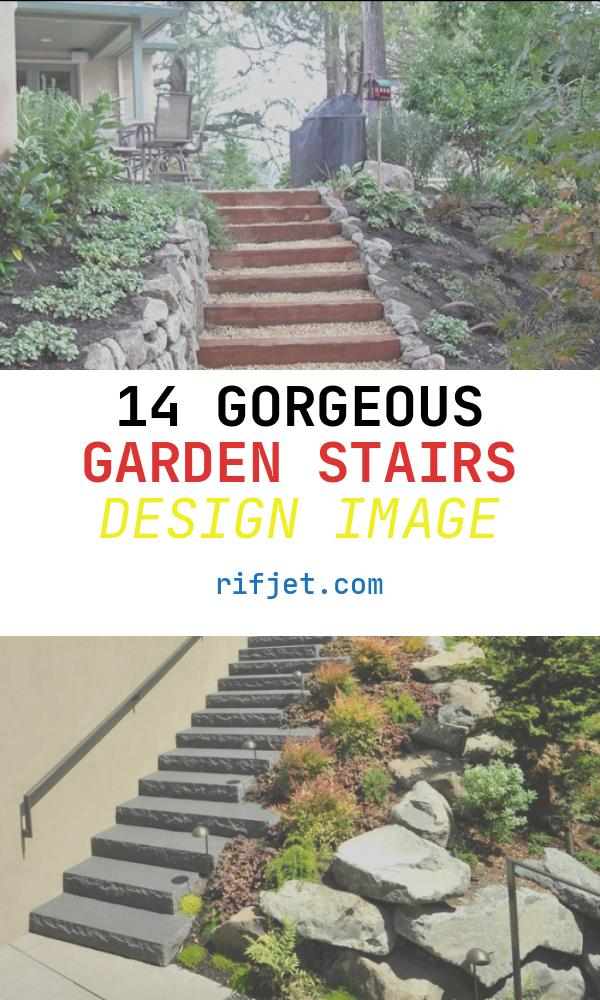 14 Gorgeous Garden Stairs Design Image