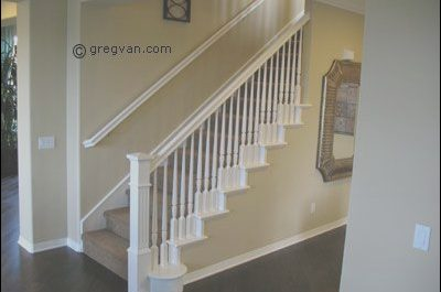 Interior Stairs and Handrails Lovely Painted Stair Handrail All White