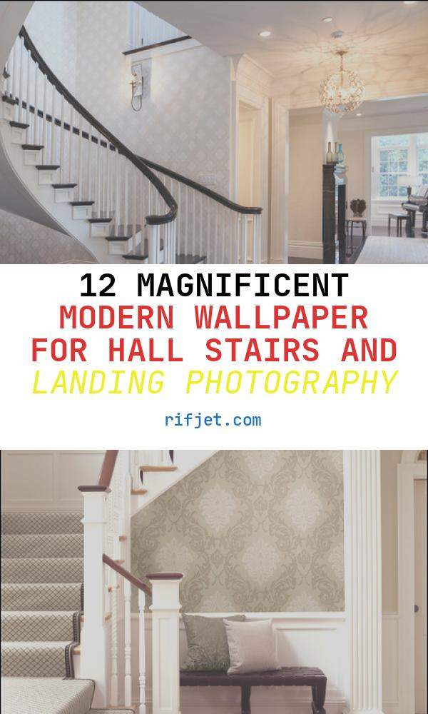 12 Magnificent Modern Wallpaper for Hall Stairs and Landing Photography