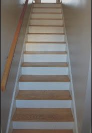 Narrow Stairs Decorating Ideas Best Of Narrow Enclosed Staircase Lighten Up Stairs by Staining
