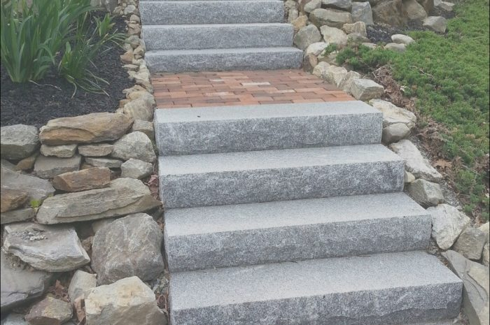 14 Acceptable Outdoor Stone Stairs Ideas Photos