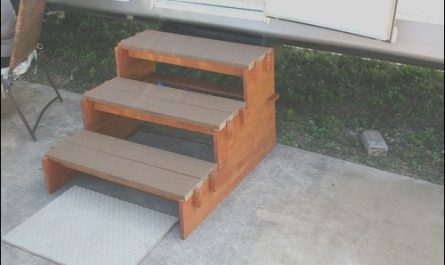 Portable Wooden Stairs Unique Simple Portable Rv Stairs so Easy A 84 Year Old Man Can Do It