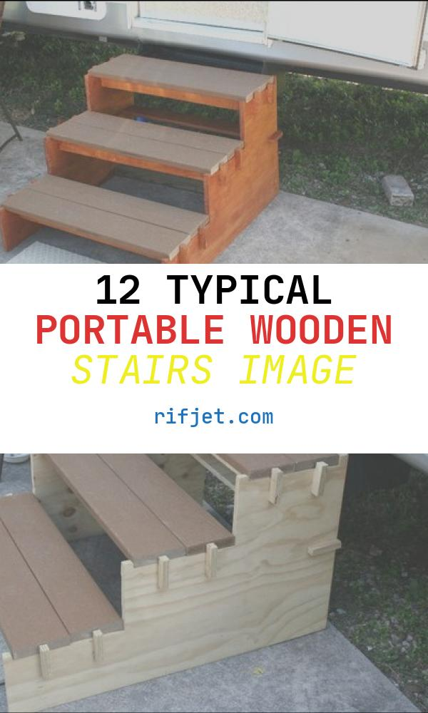 12 Typical Portable Wooden Stairs Image