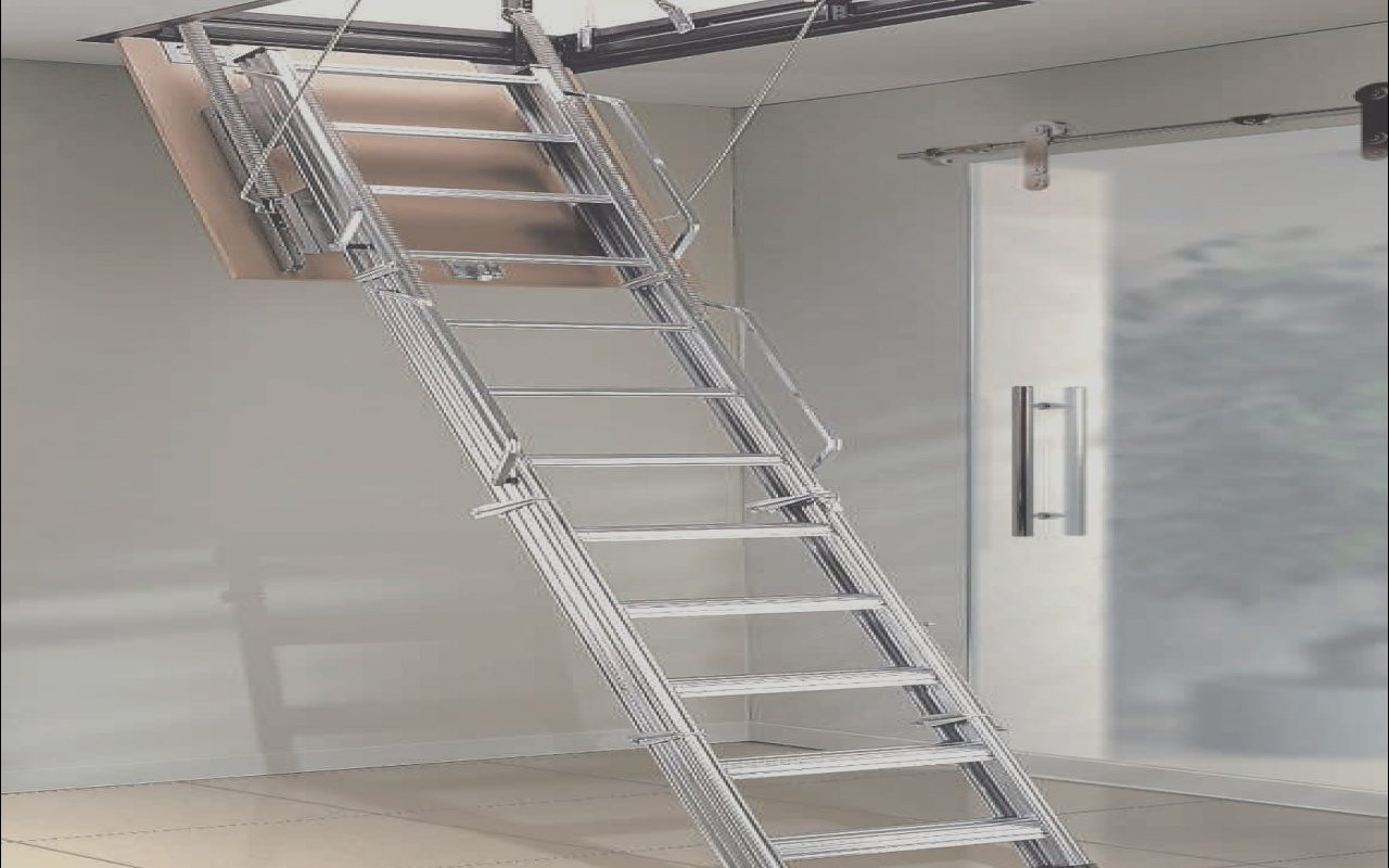 Retractable Garage Loft Stairs Luxury Retractable Stairs Design Retractable Garage Stairs Fold