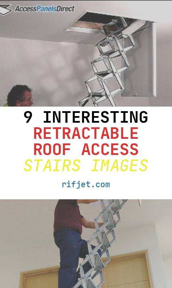 9 Interesting Retractable Roof Access Stairs Images
