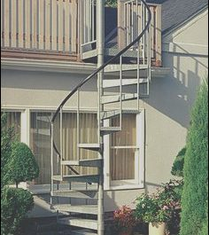 Rooftop Stairs Design Lovely 122 Best Spiral Stairs Images
