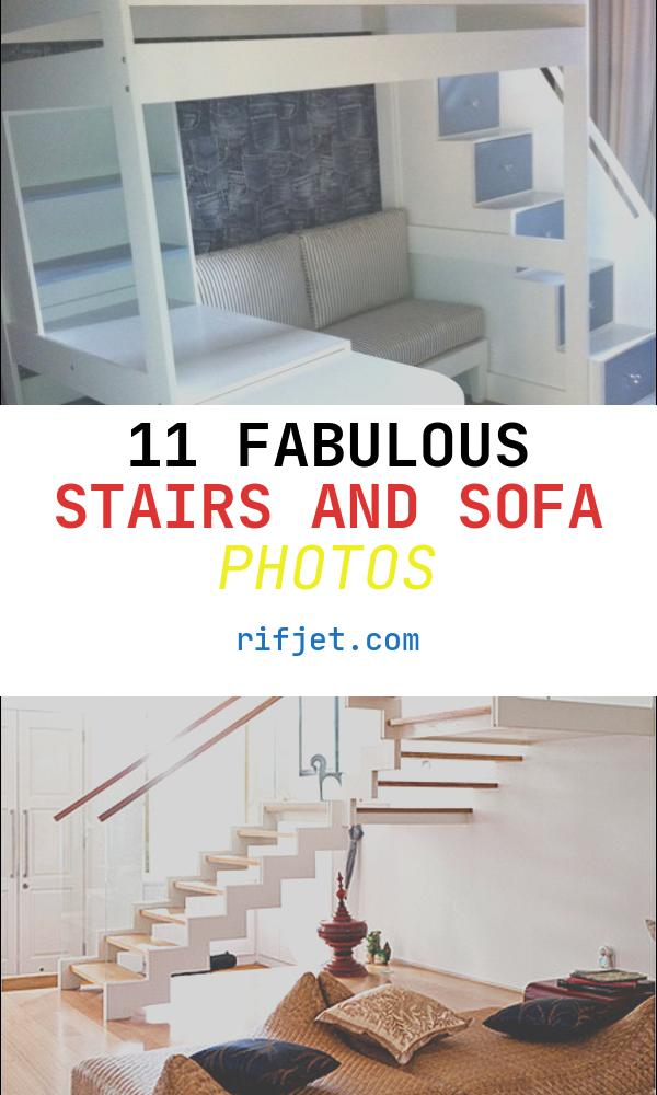 Stairs and sofa Elegant Tween Loft Bed with Pullout Desk sofa and Multi