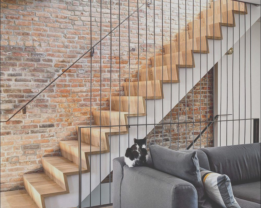 Stairs Decorating Zone Luxury Staircase Offers A Blend Of Contrasting Textures and