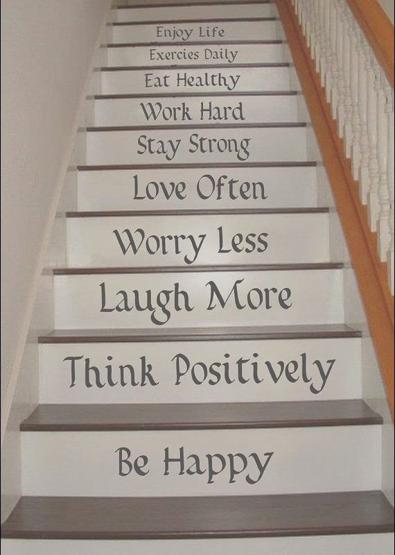 Stairs Design Quotes Unique Life Quotes Stair Riser Decals Stair Decals Stair
