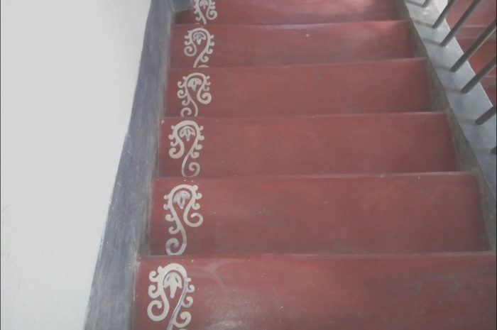 11 Qualified Stairs Rangoli Design Photography