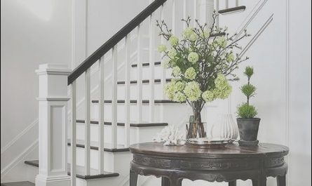 Stairs Table Zero Unique Chic Foyer Opens to A Staircase Fitted with White Spindles