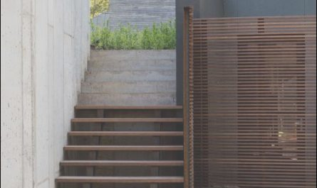 Stairs to Contemporary Garden Patio Beautiful Outdoor Stairs area Of Mixed Materials In 2019