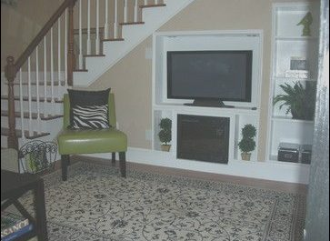 Tv Furniture Under Stairs Lovely Tv Built In Under Staircase
