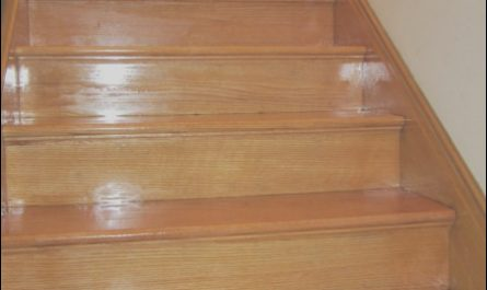 Varnishing Wooden Stairs New Refinished Staircase
