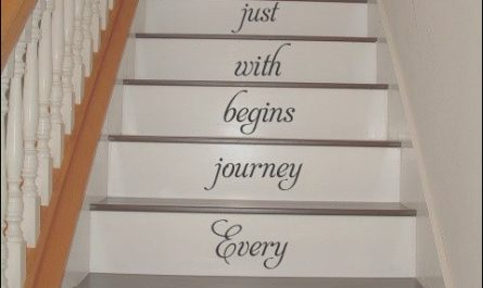 Vinyl Home Decor Stairs Lovely Every Journey Begins with Stairs Stairway Vinyl Decal